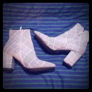 F21 Plaid Ankle Boot